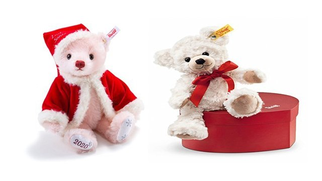 Steiff Little Santa and Teddy Bear Sweetheart